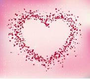 Κάρτα ημέρας βαλεντίνων, αφηρημένο διανυσματικό υπόβαθρο με τις καρδιές ελεύθερη απεικόνιση δικαιώματος