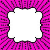 Κάρτα ημέρας βαλεντίνων καρδιών Στοκ Εικόνες