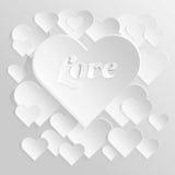 Κάρτα ημέρας βαλεντίνων με την καρδιά εγγράφου Στοκ Φωτογραφία