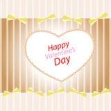 Κάρτα ημέρας βαλεντίνων με τις καρδιές Στοκ Εικόνες