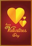 Κάρτα ημέρας βαλεντίνων s ελεύθερη απεικόνιση δικαιώματος