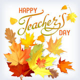 Κάρτα ημέρας δασκάλων Στοκ φωτογραφία με δικαίωμα ελεύθερης χρήσης