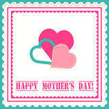 Κάρτα ημέρας μητέρας Στοκ εικόνα με δικαίωμα ελεύθερης χρήσης