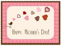 Κάρτα ημέρας μητέρας Στοκ φωτογραφία με δικαίωμα ελεύθερης χρήσης