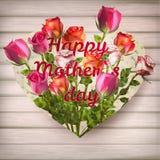 Κάρτα ημέρας μητέρων με τα τριαντάφυλλα 10 eps Στοκ φωτογραφίες με δικαίωμα ελεύθερης χρήσης