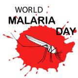Κάρτα ημέρας παγκόσμιας ελονοσίας διανυσματική απεικόνιση