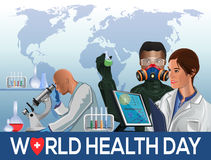 Κάρτα ημέρας παγκόσμιας υγείας Στοκ Εικόνες