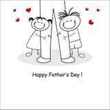 Κάρτα ημέρας πατέρα Στοκ Εικόνα
