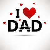 Κάρτα ημέρας πατέρα ελεύθερη απεικόνιση δικαιώματος