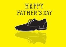Κάρτα ημέρας πατέρων, διανυσματική απεικόνιση Στοκ εικόνα με δικαίωμα ελεύθερης χρήσης