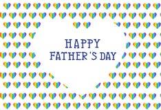 Κάρτα ημέρας πατέρων, διανυσματική απεικόνιση Στοκ Εικόνα