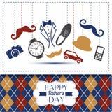 Κάρτα ημέρας πατέρων με το κλουβί χρώματος Στοκ Εικόνες