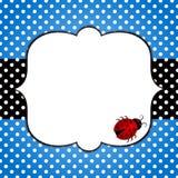 Κάρτα ημέρας πατέρων Ladybug απεικόνιση αποθεμάτων