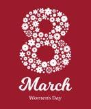 Κάρτα ημέρας των ευτυχών γυναικών απεικόνιση αποθεμάτων