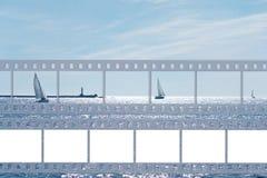 Κάρτα θάλασσας με την ταινία Στοκ φωτογραφία με δικαίωμα ελεύθερης χρήσης