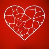Κάρτα διακοπής εγγράφου με την καρδιά. EPS 10 Στοκ Εικόνα