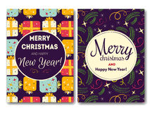 Κάρτα διακοπών με τα Χριστούγεννα Στοκ Εικόνα