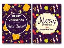 Κάρτα διακοπών με τα Χριστούγεννα Στοκ εικόνες με δικαίωμα ελεύθερης χρήσης