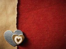 Κάρτα διακοπών με την αγάπη και την καρδιά λέξης Στοκ φωτογραφία με δικαίωμα ελεύθερης χρήσης