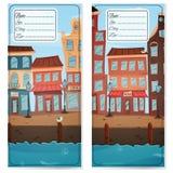 Κάρτα διευθύνσεων με την πόλη Στοκ φωτογραφίες με δικαίωμα ελεύθερης χρήσης