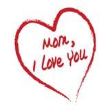 κάρτα ι αγάπη mom εσείς Στοκ Εικόνες