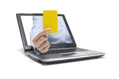 κάρτα κίτρινη Στοκ φωτογραφία με δικαίωμα ελεύθερης χρήσης