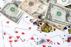 Κάρτα και δολάριο Playng Στοκ εικόνες με δικαίωμα ελεύθερης χρήσης