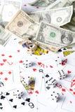 Κάρτα και δολάριο Playng Στοκ Εικόνες