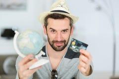 Κάρτα και σφαίρα εκμετάλλευσης ατόμων στοκ εικόνες με δικαίωμα ελεύθερης χρήσης