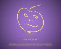 κάρτα καλή χρονιά Στοκ Φωτογραφίες