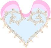 κάρτα καρδιών Στοκ Εικόνες
