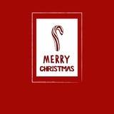 Κάρτα καλάμων καραμελών Χριστουγέννων Στοκ Φωτογραφία