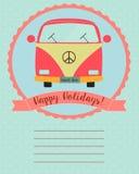 κάρτα καλές διακοπές Στοκ Φωτογραφία