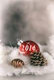 κάρτα καλής χρονιάς του 2016 Στοκ Εικόνα