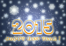 Κάρτα 2015 καλής χρονιάς Στοκ Εικόνα
