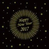 Κάρτα καλής χρονιάς 2017 Στοκ Φωτογραφίες