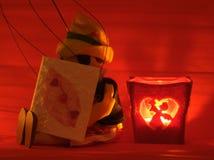 κάρτα κουκλών κεριών Στοκ εικόνα με δικαίωμα ελεύθερης χρήσης