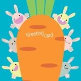 Κάρτα κουνελιών Στοκ εικόνα με δικαίωμα ελεύθερης χρήσης