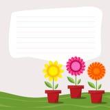 Κάρτα λουλουδιών Στοκ Εικόνες