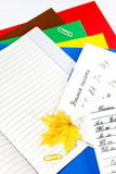 Κάρτα μέχρι την 1η Σεπτεμβρίου εκμάθηση να γράφει Στοκ εικόνες με δικαίωμα ελεύθερης χρήσης