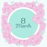 Κάρτα Μαρτίου γερανιών Στοκ εικόνα με δικαίωμα ελεύθερης χρήσης