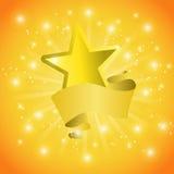 Κάρτα με ένα αστέρι και τα τσέκια ταινιών απεικόνιση αποθεμάτων