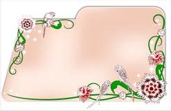 Κάρτα με τα διακοσμητικά λουλούδια Στοκ εικόνες με δικαίωμα ελεύθερης χρήσης