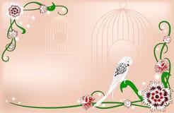 Κάρτα με τα διακοσμητικά λουλούδια Στοκ φωτογραφία με δικαίωμα ελεύθερης χρήσης