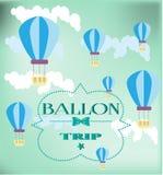 Κάρτα με τα μπαλόνια Στοκ Εικόνα