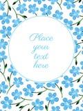 Κάρτα με τα λουλούδια watercolor ελεύθερη απεικόνιση δικαιώματος