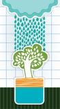 Κάρτα με τα σύννεφα βροχής Ελεύθερη απεικόνιση δικαιώματος