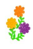 Κάρτα με τα χρωματισμένα λουλούδια Στοκ Εικόνες