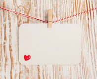 Κάρτα με την καρδιά Στοκ Φωτογραφίες