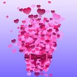 Κάρτα με τις καρδιές Στοκ εικόνα με δικαίωμα ελεύθερης χρήσης
